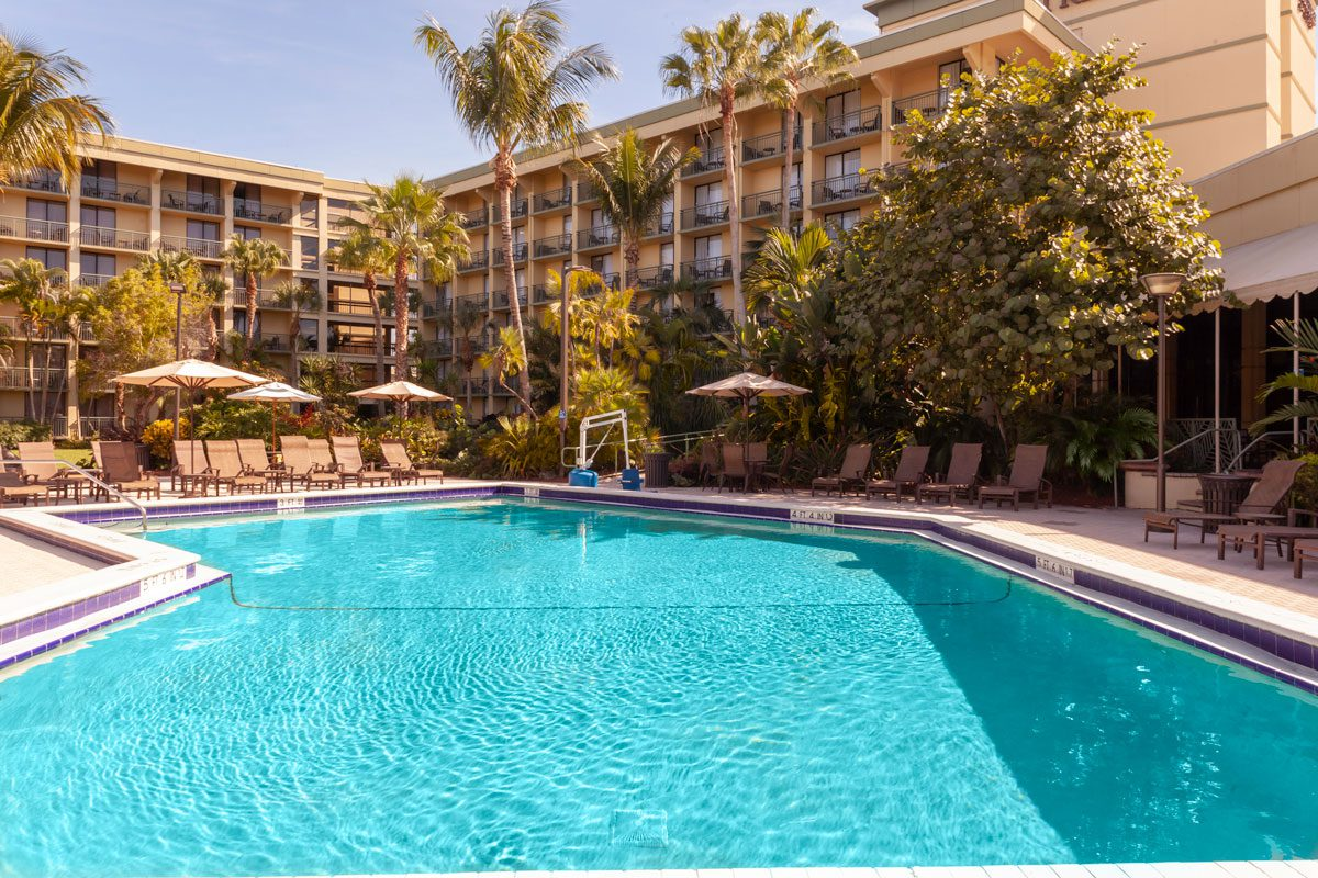 The Pool at the Doubletree Hotel Palm Beach Gardens